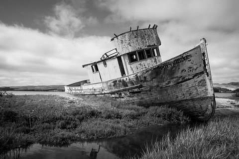 Point Reyes Abandoned Boat